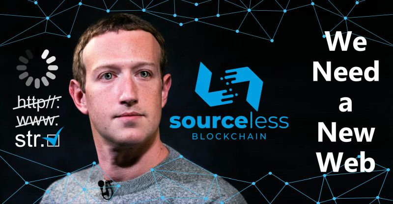 SourceLess Blockchain: a new way to web on a world wide blockchain